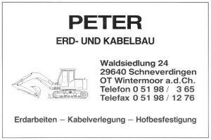 Anzeige Peter Erd- und Kabelbau - aus 200 J Colonie Wintermoor