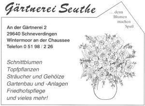 Anzeige Seuthe - aus 200 J Colonie Wintermoor