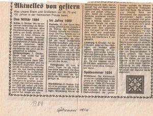 Böhme Zeitung Bericht über Wilderei in Wintermoor 1934