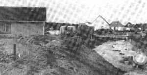 Baustelle der Neubausiedlung - aus Chronik 200 Jahre Wintermoor-Geversdorf