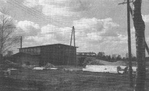 Das Sägewerk vor dem Brand - aus 200 J Colonie Wintermoor
