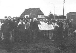 Einweihung der neuen Betriebshalle Bauunternehmen Albert Bleeken - aus 200 J Colonie Wintermoor