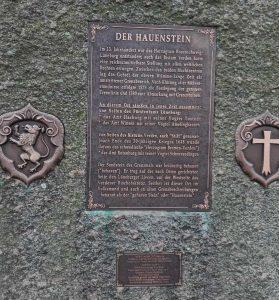 Inschrift auf dem neuen Hauenstein