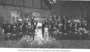 Hochzeit Friedegard und Peter Schlüschen - aus 200 J Colonie Wintermoor