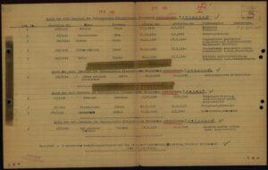 Liste der seit Bestehen des Hamburgischen Krankenhauses verstorbenen Ukrainer Polen Belgier Norweger 1949, Dokument ohne zugeordnete Signatur 02010201 oS/ID 70641008/ITS Digital Archive, Arolsen Archives