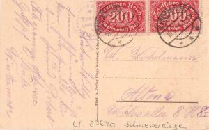 Postkarte von Buhr Wintermoor mit Stempel 1923