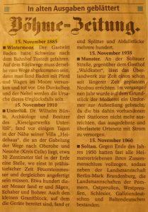 Böhme-Zeitung vom 15.11.1885 - Unfall Baden