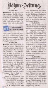 Böhme-Zeitung vom 23.5.1966 Autoeinbruch in Wintermoor