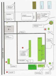 Lageplan des WaldpädagogikzentrumEhrhorn, Niedersächsische Landesforsten 2017