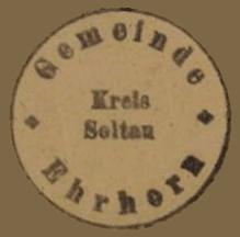 Siegel der Gemeinde Ehrhorn