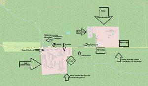 Krankenhaus Wintermoor, Karte mit Erläuterungen, © OpenStreetMap-Mitwirkende und Herrn B.