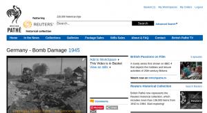 Screenshot BritshPathe - Bombenschaden Bahnhof Wintermoor 1945