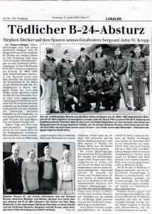 Stephen Decker_Böhme Zeitung_Artikel