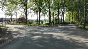 Der neue Kreisel in der Wintermoor-Geversdorfer Ortsmitte im Mai 2017