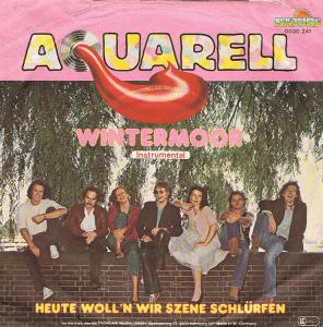 Schallplattenhülle von 1979 der Gruppe Aquarell: Wintermoor & Heute woll'n wir Szene schlürfen
