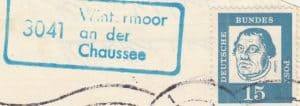 Landpoststempel 3041 (zw. 1961-70)