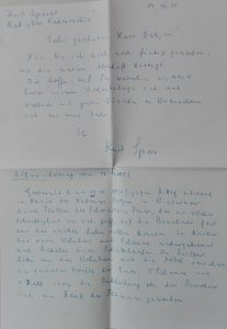 Brief von Spörer an Oetjen 17.12.1990 wegen Feuer 1890