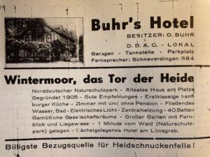 Werbung Buhrs Hotel