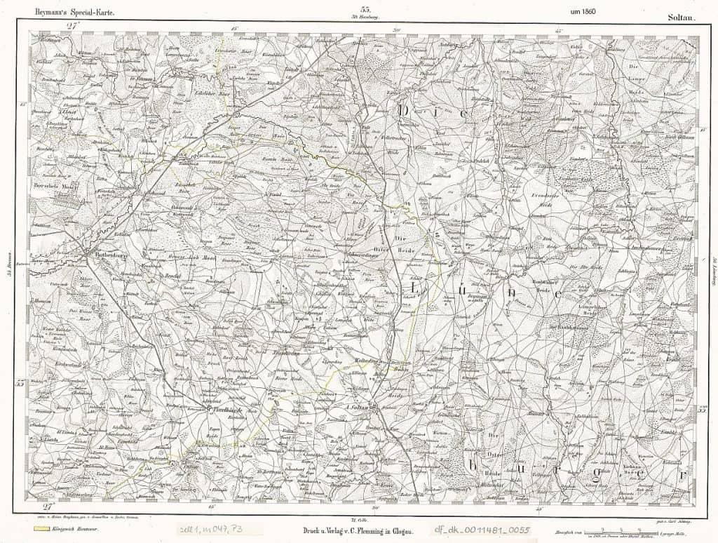 Topographische Special-Karte von Deutschland und den angrenzenden Staaten, 1:200 000, um 1860, df_dk_0011481_0055, SLUB/Kartensammlung