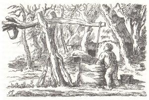 Brunnen - Bild aus Plauderei aus einem Heidedorf von Frido Witte