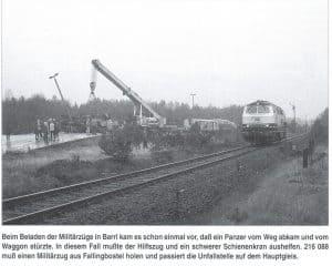 Militärbahnhof Barrl mit Panzerrampe - Foto aus Die Heidebahn von Dierk Lawrenz