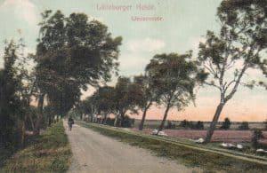 Straße in Wintermoor um 1915