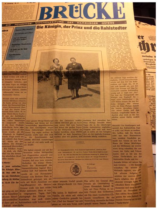 Die Königin, der Prinz und die Rahlstedter - Brücke 1965 über den Besuch von Prinz Philipp