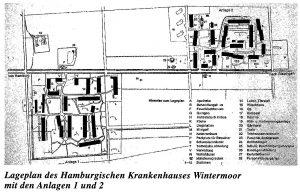 Lageplan des Hamburgischen Krankenhauses in Wintermoor