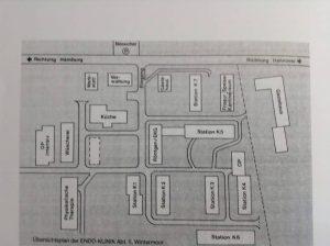 ENDO-Klinik Wintermoor, Stationsplan 1985