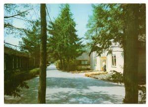 Weg vor de rKantine in der ENDO-Klinik Wintermoor um 1977