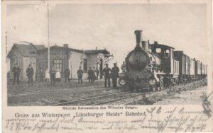 Ansichtskarte Bahnhof Wintermoor, gestempelt 1903