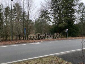 Eingang zum Krankenhaus Wintermoor im Dez 2020