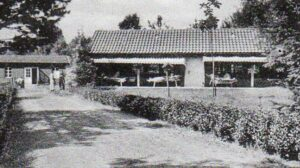Liegehalle im Krankenhaus Wintermoor - Ausschnitt aus einer Ansichtskarte