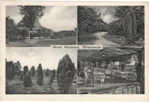 Hotel Heidehof Wintermoor Ebeling, Ansichtskarte 5a Reher, gelaufen 1957