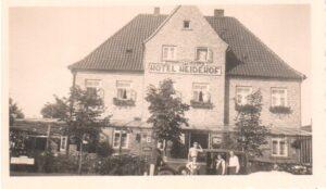 Hotel Heidehof Wintermoor - undatiertes Foto von Übernachtungsgästen aus Wiesbaden - 1930er Jahre